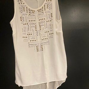 BCBG high low shirt with detail XS
